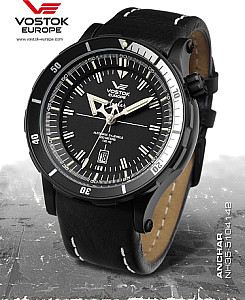 Vostok Europe Anchar Automatik 48mm schwarz