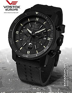 Vostok Europe Ekranoplan Chronograph black case