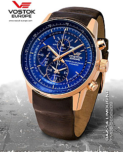 Vostok-Europe Limousine Alltimer with Trigalights Blue rosegold case