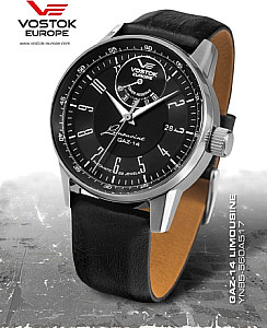 Vostok Europe GAZ 14 Automatic Power Reserve silber/schwarz