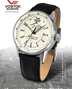 Vostok Europe GAZ 14 Automatic Power Reserve silver