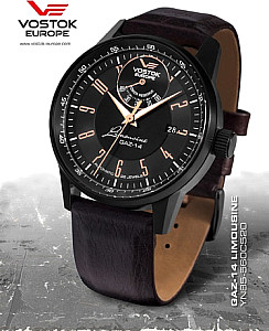 Vostok Europe GAZ 14 Automatic Power Reserve black