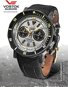 Vostok Europe Lunokhod 2 Grand Chrono silver PVD case