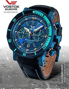 Vostok Europe Lunokhod 2 Grand Chrono turkis