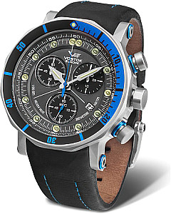 Vostok-Europe Lunokhod-2 Grand Chrono silber/blau