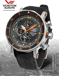 Vostok Europe Chronograph Lunokhod 2 Steel / Orange