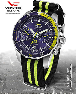 Vostok Europe Rocket N1 Chrono Quarz silber-blau
