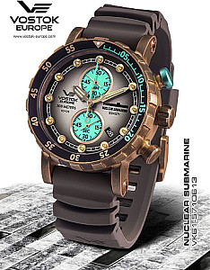 Vostok Europe SSN-​571 Nuclear Submarine Chrono Bronze