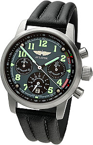 Aviator IV Chronograph mechanisch grau