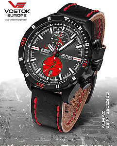 Vostok Europe Almaz Chrono red / black PVD incl. 2 watchbands