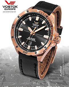 Vostok Europe Almaz Automatic PVD incl. 2 watchbands